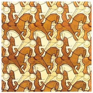 Escher - ruiters