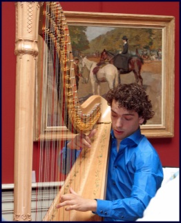 Remy van Kesteren op harp