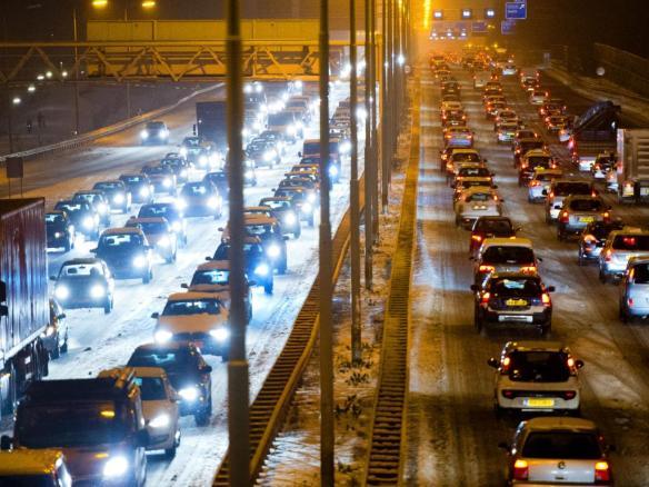 Volle snelwegen