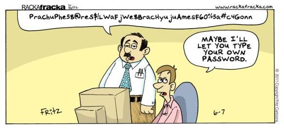 Cartoon wachtwoord