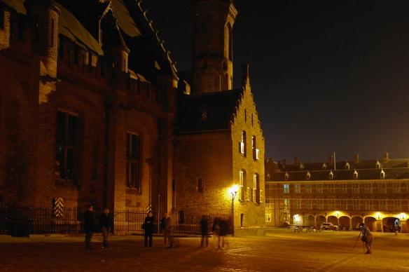 Binnenhof bij avond