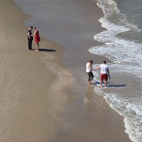 aan de kustlijn