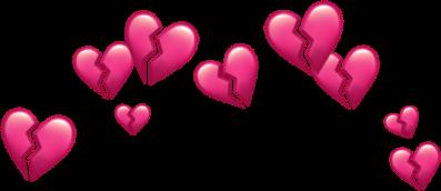 pink broken hearts