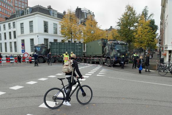 Legervoertuigen Herengracht Den Haag