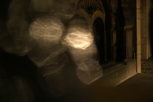Korte Vijverberg bij nacht