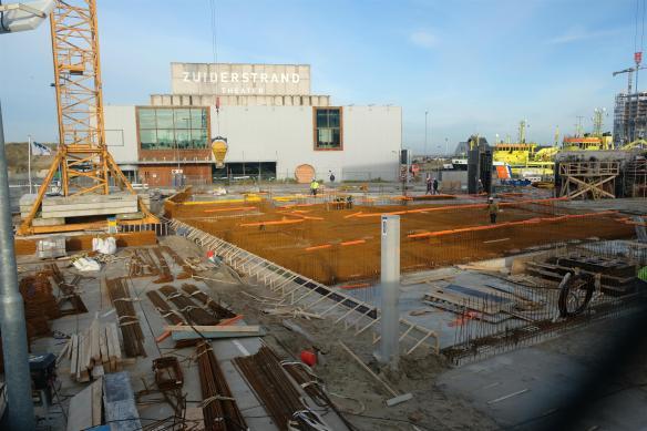 De Zuid in aanbouw bij Zuiderstrandtheater